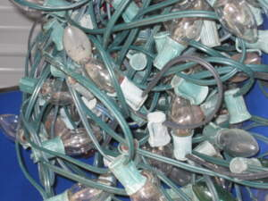 Load of Rubbish has collected one or two strings of Christmas lights over the years
