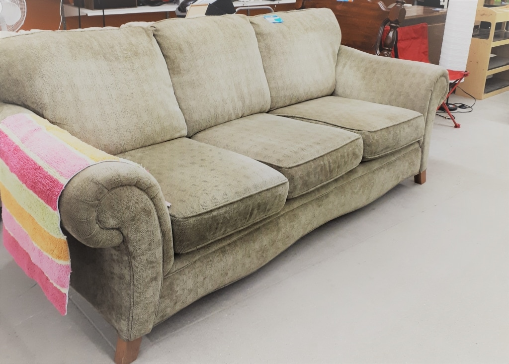 couch at thrift store