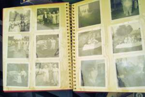 Old photographs in an album